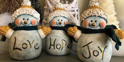Let's Paint Snowmen @ Thunder coffee!!