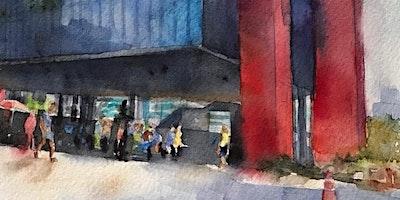 """Workshop de Aquarela para """"Urban Sketching""""- Curso de 1 dia- nível básico- São Paulo- sáb 21 de março"""