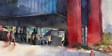 """Workshop de Aquarela para """"Urban Sketching""""- Curso de 1 dia- nível básico- São Paulo- sáb 21 de março ingressos"""