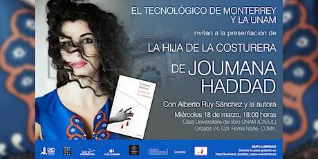 Presentación de la novela: La hija de la costurera, de Joumana Haddad. boletos