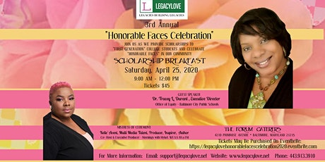 """LegacyLove """"Honorable Faces"""" Celebration - Scholarship Breakfast 2020 tickets"""