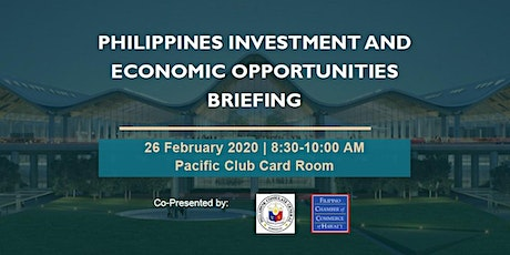 Philippines Investment and Economic Opportunities Briefing tickets
