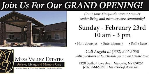 Mesa Valley Estates Grand Opening