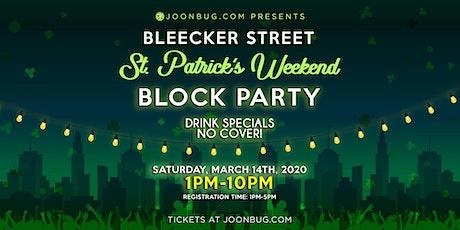 New York City St. Patrick's Day Bleecker Street Block Party Day 1 tickets