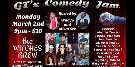 GT's Comedy Jam at Witches Brew