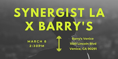 Synergist x Barry's tickets