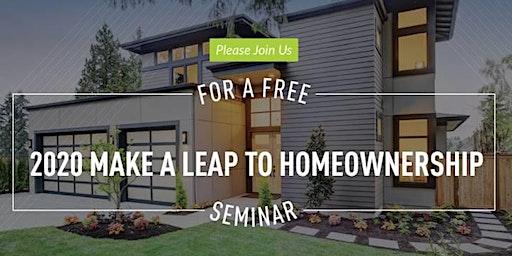 2020 Make A Leap To Homeownership