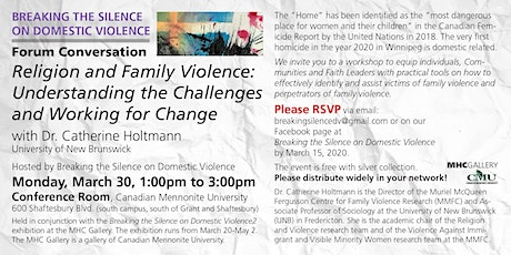 Religion &Family Violence:Understanding the challenges & working for change tickets