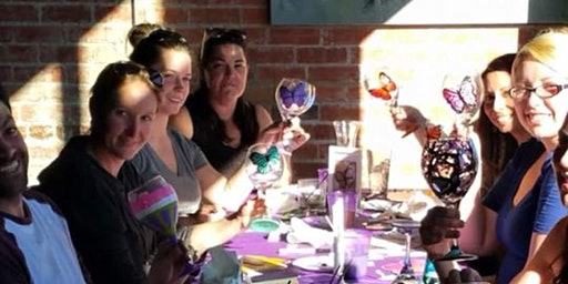 Wine Glass Painting Class at Madison Station Bar & Grill 3/23 @ 7pm