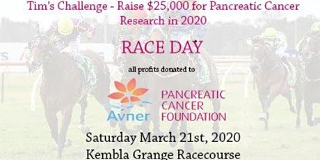 Tim's Challenge  Raising Money for Pancreatic Cancer Research - Race Day tickets