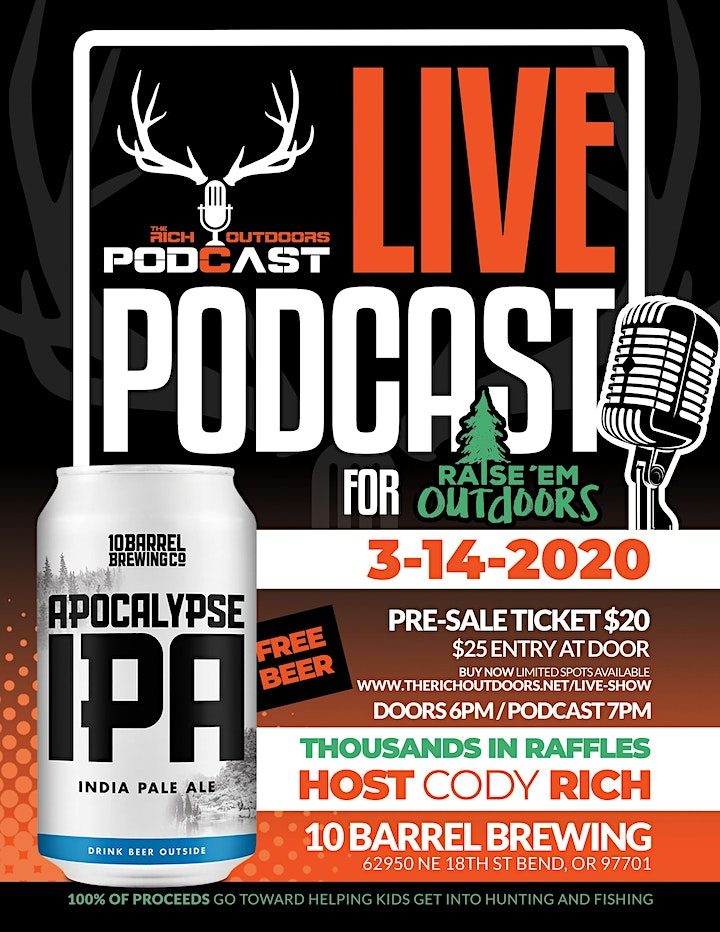 Live Podcast w/ The Rich Outdoors image