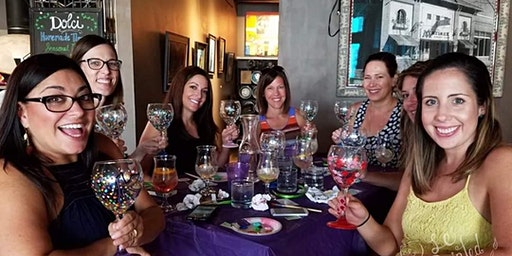 Wine Glass Painting Class at Shagnasty's Grubbery and Pourhouse 2/22 @ 6pm
