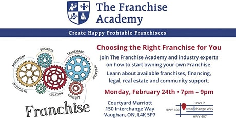 How to choose the right franchise for you! tickets