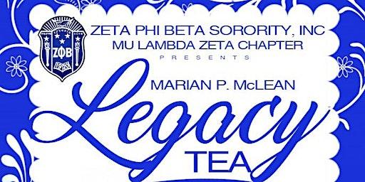 Marian P. McLean Legacy Tea