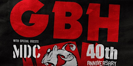 GBH 40th Anniversary Tour - cancelled.  Refunds will be issued. tickets