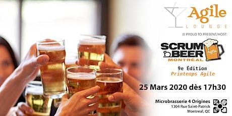 Scrum Beer Montréal #9 - Printemps Agile Spring billets