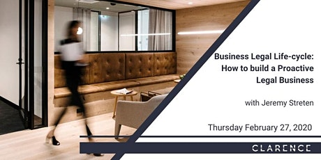 CPD: Business Legal Life-cycle: How to build a Proactive Legal Business tickets