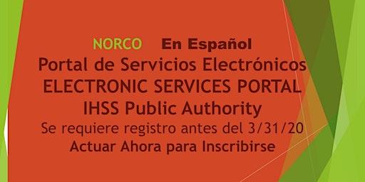 EN ESPANOL!  NORCO Portal de Servicios Electronicos