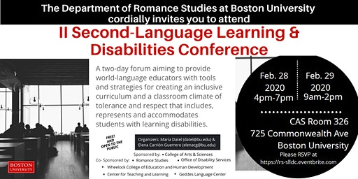 II Second-Language Learning & Disabilities Conference