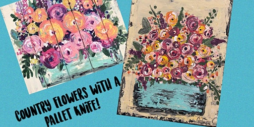 Country Flowers with a Pallet Knife!