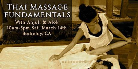 Thai Massage Fundamentals tickets