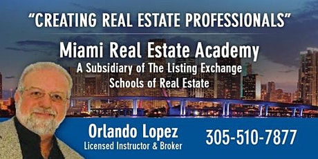 REAL ESTATE LICENSING -$399- ONLY 12 HOURS CLASSROOM 04-04-2020 tickets