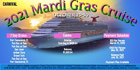 Mardi Gras Cruise tickets
