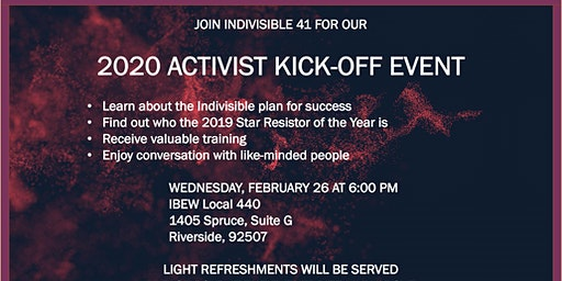 INDIVISIBLE 41 2020 KICK-OFF EVENT
