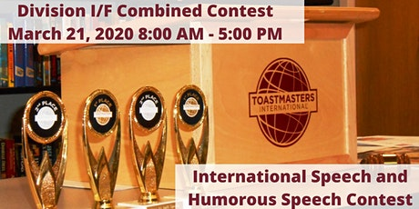 D40 Toastmasters - Combined Division I/F International and Humorous Speech Contests tickets