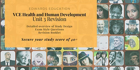 VCE Health and Human Development - Unit 3 Revision tickets