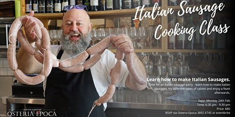 Italian Sausage Cooking Class - Feb 2020 tickets