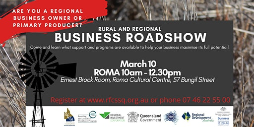 ROMA Rural and Regional Business Roadshow
