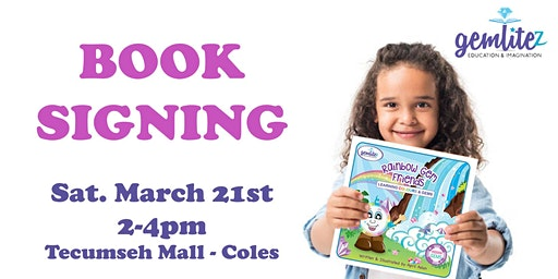 Children's Book SIGNING-Rainbow Gem Friends – Learning Colours & Gems