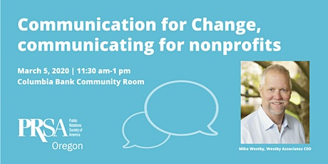 Communication for Change, communicating for nonprofits tickets