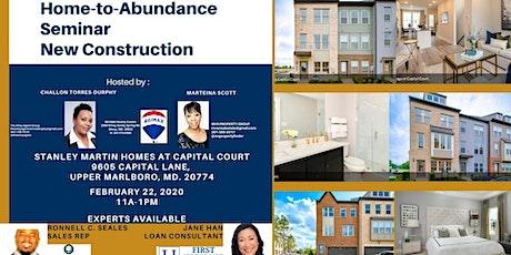 Home to Abundance Seminar - New Construction tickets