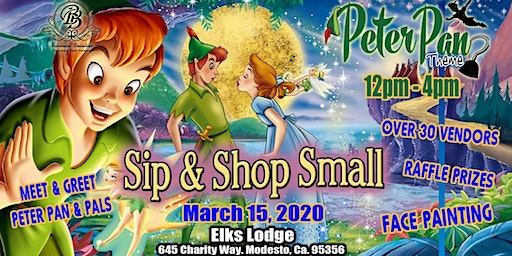 Sip & Shop Peter Pan theme