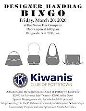 Kiwanis Club of Pottstown Designer Handbag Bingo tickets