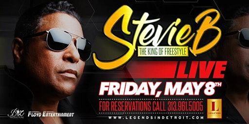 Stevie B, The King of Freestyle performs LIVE at Michigan's Premier Venue