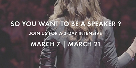So You Want To Be A Speaker? tickets