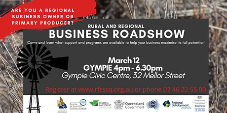 GYMPIE Rural and Regional Business Roadshow tickets
