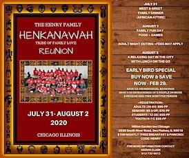 Henry Family HENKANAWAH Reunion 2020 tickets