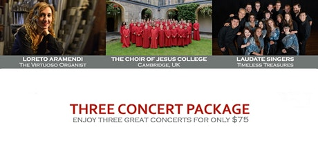 Three Concert Package  :  St James' Music Series tickets