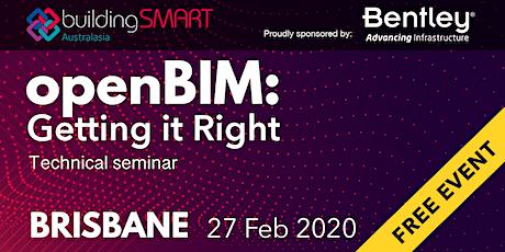 openBIM: Getting it Right Technical seminar (Brisbane) tickets