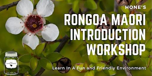 Hone's Rongoa Maori Introduction workshop