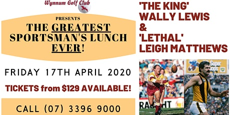 The GREATEST Sportman's Lunch EVER! tickets
