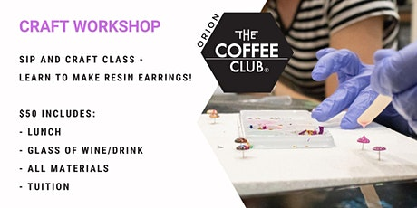 Orion Springfield - Grab a glass of wine and learn to make Resin Studs! tickets