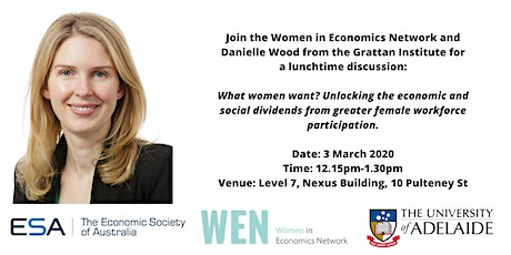 Women in Economics: Danielle Wood on female workforce participation tickets