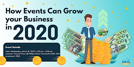 How Events Can Grow your Business in 2020 tickets