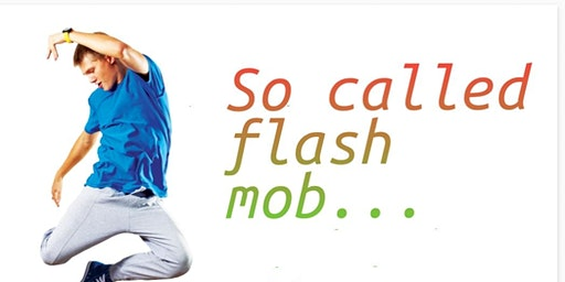 So called flash mob ... Let's gather and dance away to Bollywood music!!
