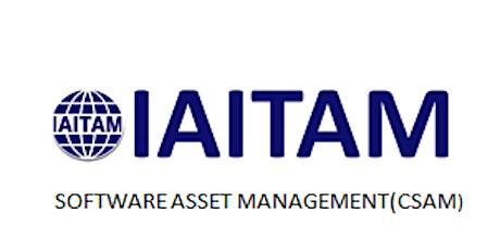 IAITAM Software Asset Management (CSAM) 2 Days Virtual Live Training in Frankfurt tickets